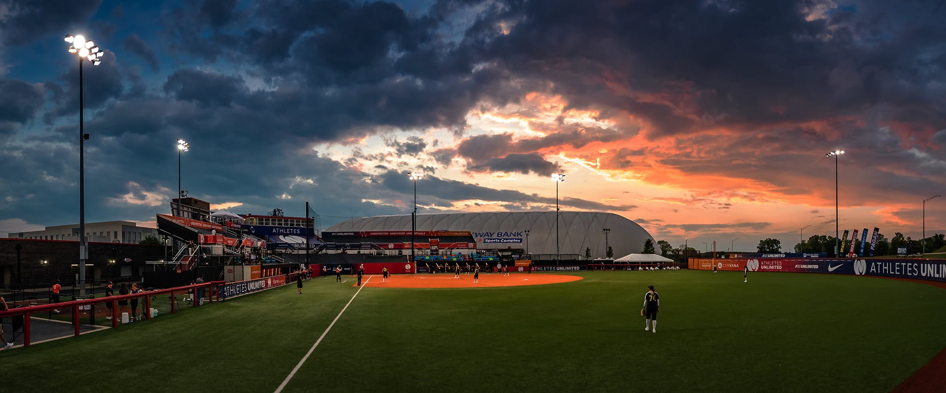 Sunset at Parkway Banks Sports Complex