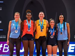 Athletes Unlimited Volleyball Season 1 Winners: Brie King, Bethania De la Cruz, Jordan Larson, Nomaris Vélez Agosto, Aury Cruz